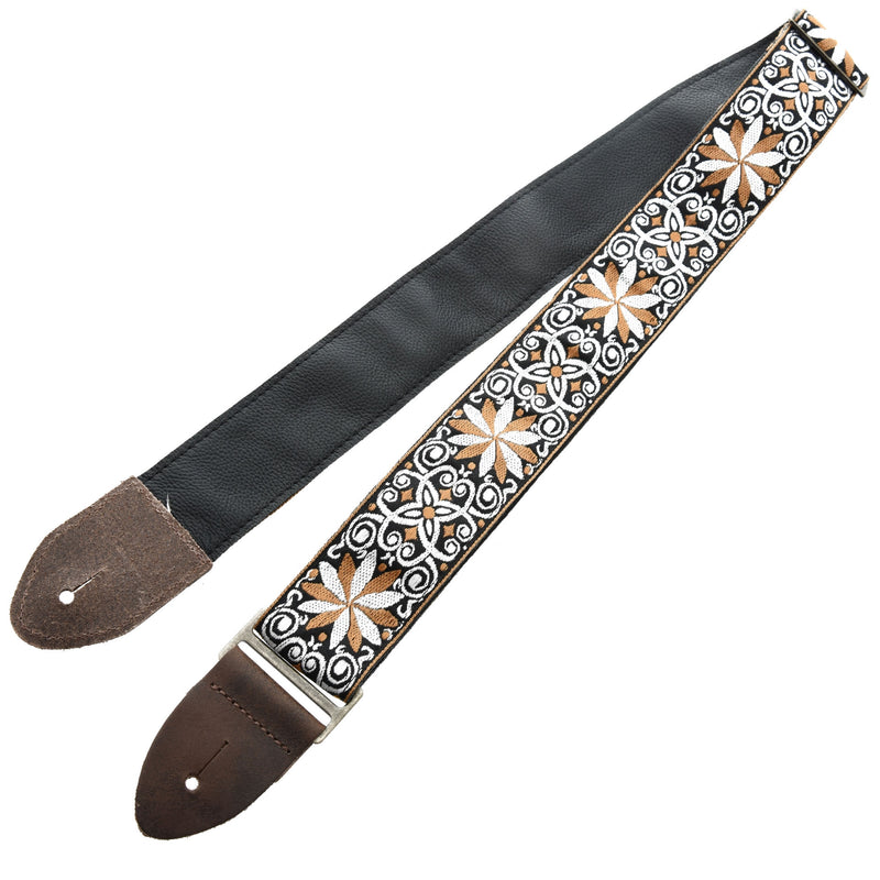 "Levy 2"" Jacquard Weave Guitar Strap with Hootenanny Design"