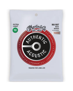 Martin MA180T Authentic Acoustic Lifespan 2.0 Treated 80/20 Bronze Ex-Lt 12-String Acoustic Guitar