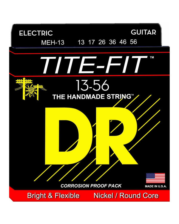 DR MEH-13 Tite-Fit Nickel Wound Mega Heavy 6-String Electric Guitar Set