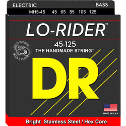 DR MH5-45 Lo-Rider Stainless Steel Roundwound Medium 5-String Electric Bass Set