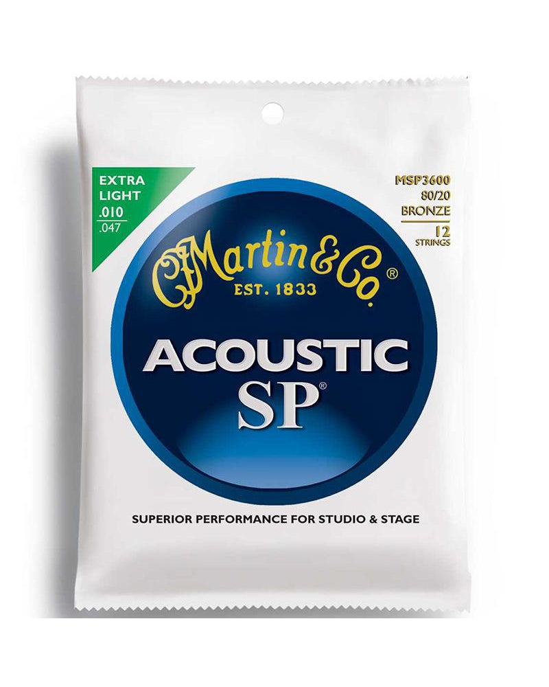 Martin MSP3600 Acoustic SP Extra Light 12-String Acoustic Guitar Set