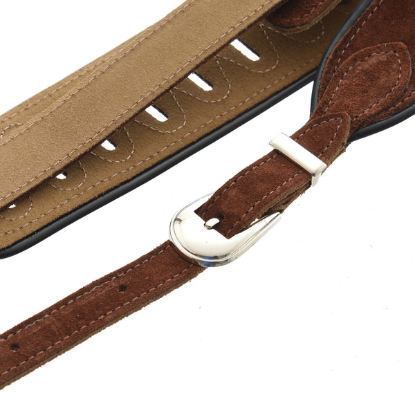 "Levy 2-1/2"" Dobro/Acoustic Guitar Suede Leather Strap"
