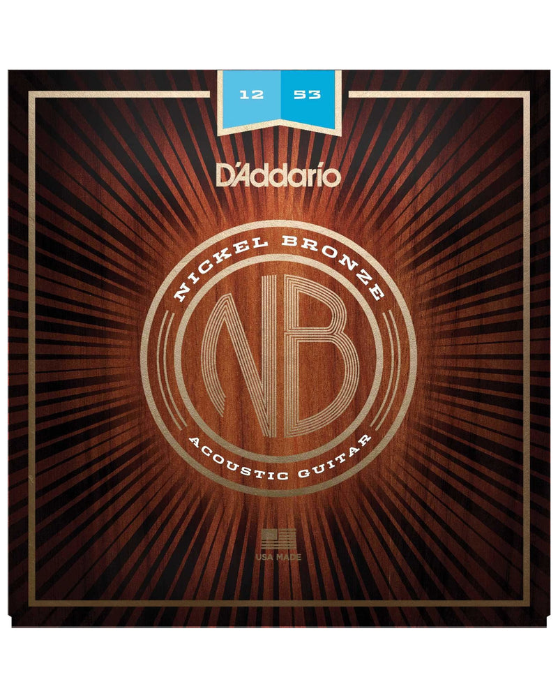 D'Addario Nickel Bronze Light Gauge Acoustic Guitar Strings