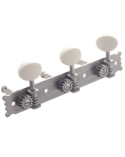 National Engraved Vintage 3-On-A-Plate Tuning Machines