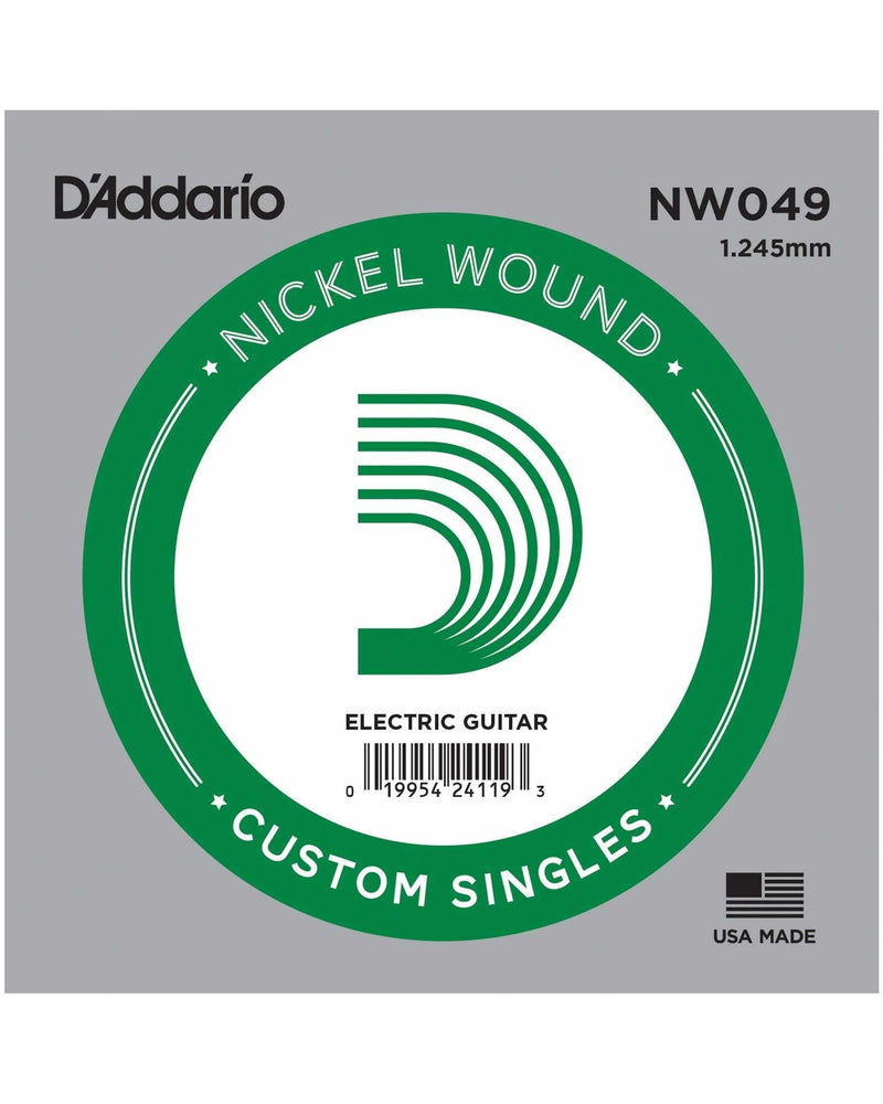 D'Addario NW049 Nickel Roundwound Ball End 049 Single String
