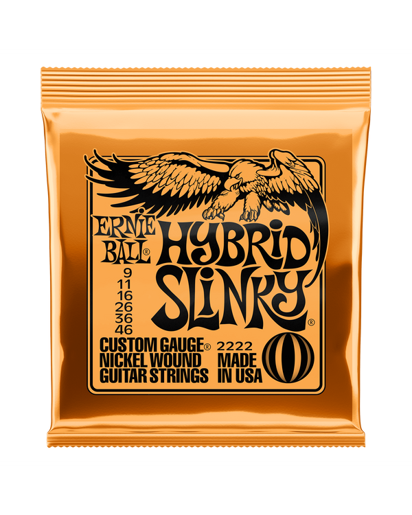 Ernie Ball 2222 Nickel Roundwound Hybrid Slinky Light Electric Guitar Strings