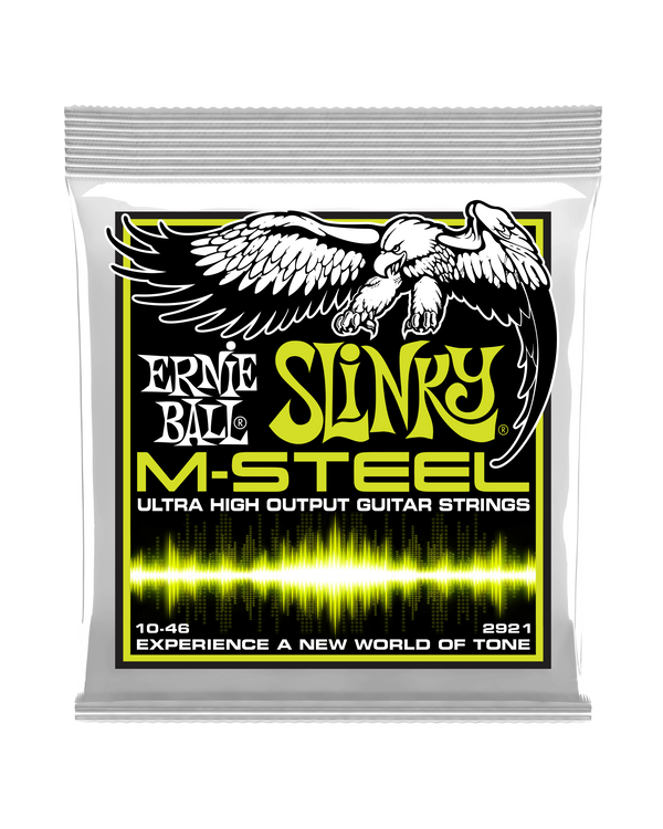 Ernie Ball 2921 M-Steel Regular Slinky .010-.046 Electric Guitar Strings