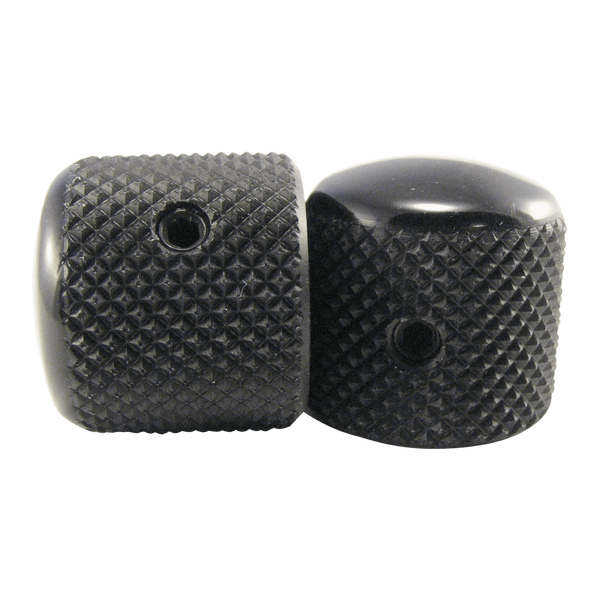 Ernie Ball Black Aluminum Dome Knobs, Telecaster Style, Pair