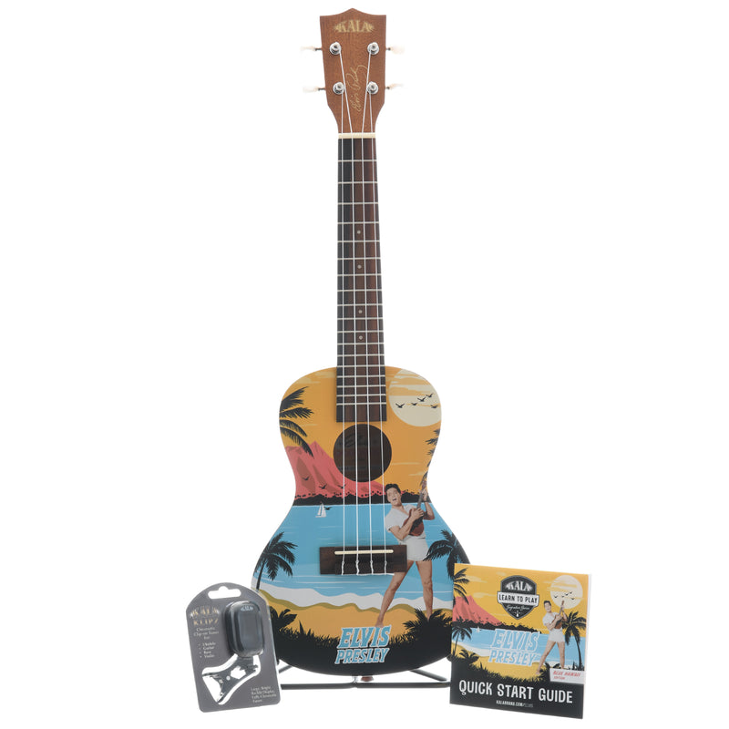 Kala Elvis Signature Blue Hawaii Concert Ukulele Package