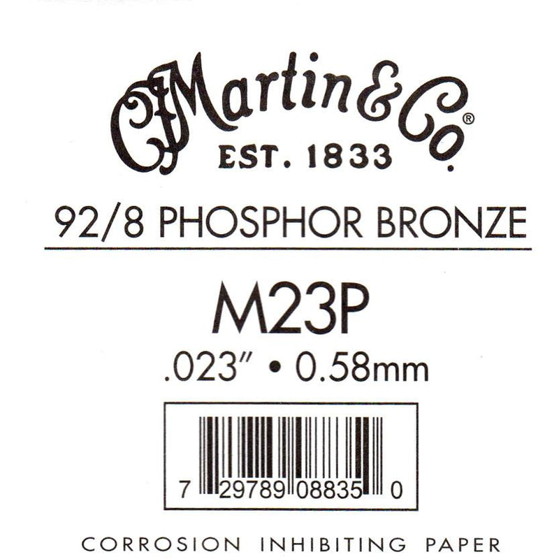 Martin Phosphor Bronze Wound Ball End Single String .023