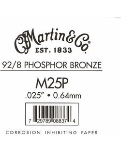 Martin Phosphor Bronze Wound Ball End Single String .025