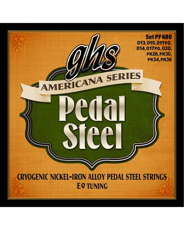 GHS PF600 Americana Cryogenic Nickel/Iron E9th Tuning Pedal Steel Strings