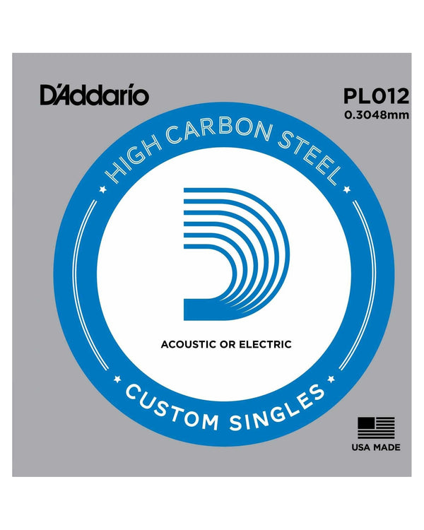 D'Addario PL012 High Carbon Steel Single String