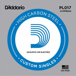 D'Addario PL017 High Carbon Steel Single String