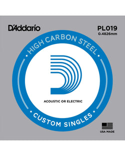 D'Addario PL019 High Carbon Steel Single String