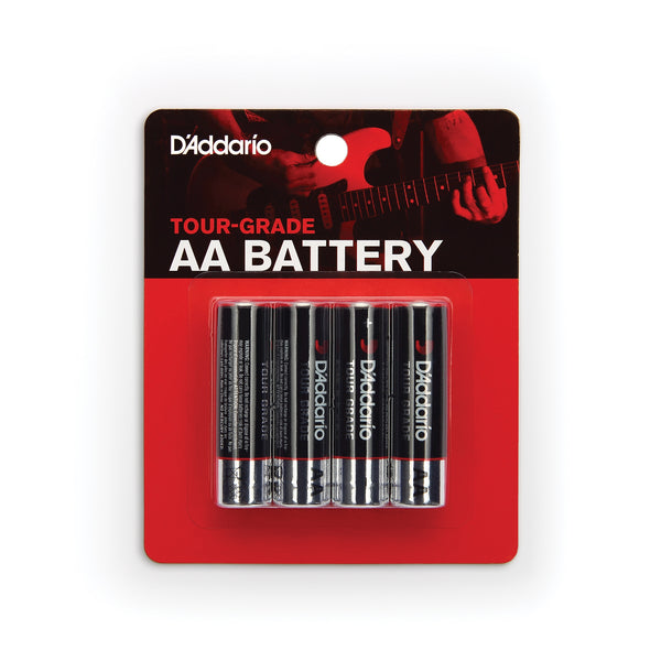 D'Addario Planet Waves Tour Grade AA Batteries, 4-Pack