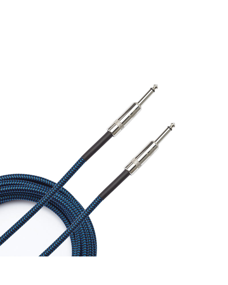 D'Addario Planet Waves Custom Series 15' Braided Instrument Cable, Blue