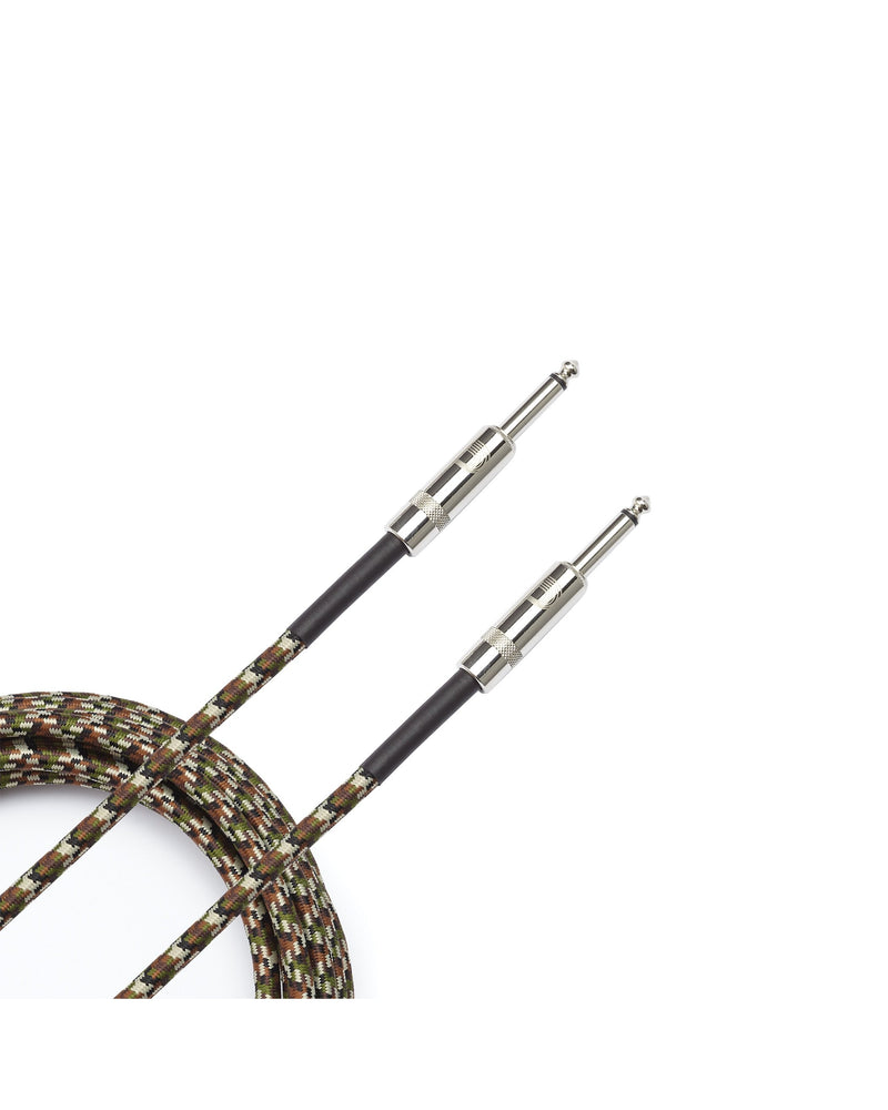 D'Addario Planet Waves Custom Series 15' Braided Instrument Cable, Camouflage