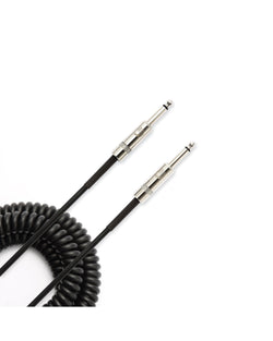 D'Addario Planet Waves Custom Series 30' Coiled Cable, Black