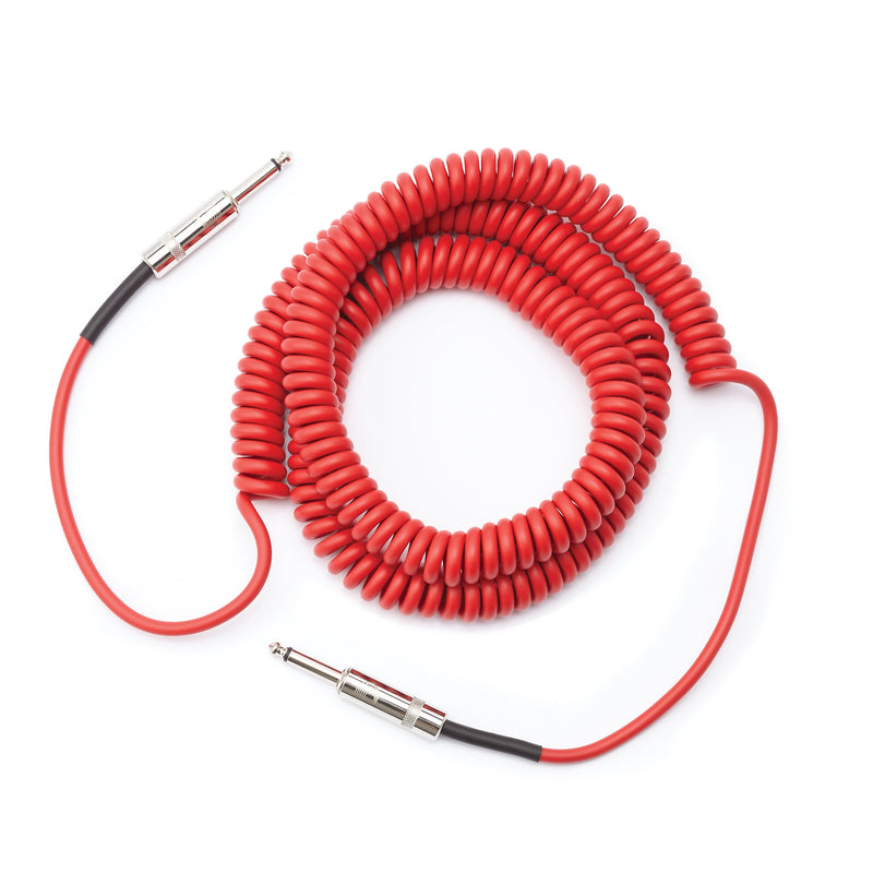 D'Addario Planet Waves Custom Series 30' Coiled Cable, Red