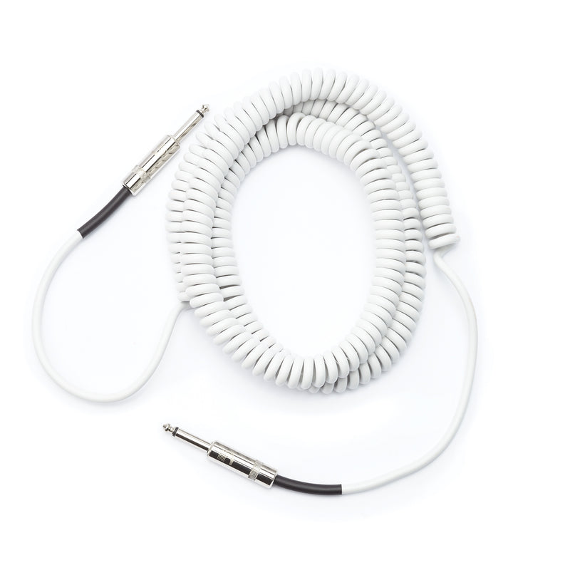 D'Addario Planet Waves Custom Series 30' Coiled Cable, White