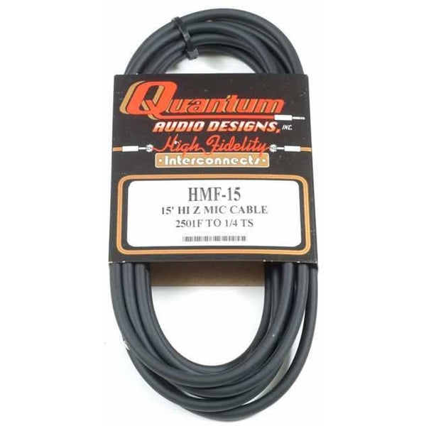"Quantum Audio Designs 1/4"" Male to Screw-On Style Cable, 15'"