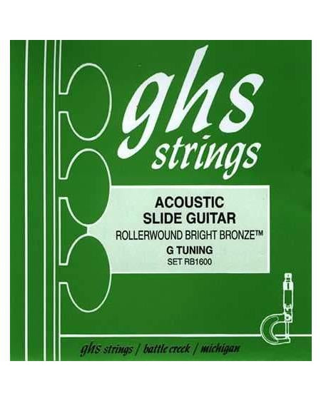 GHS RB160 Rollerwound Bright Bronze Resonator Guitar G Tuning Strings