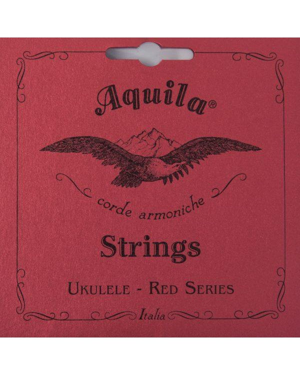 Aquila 84U Soprano Ukulele String Set, Red Series (Red Wound Low G)