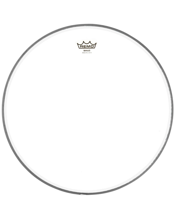 Remo Clear Banjo Head, 10 11/16 Inch Diameter, High Crown (1/2 Inch) -