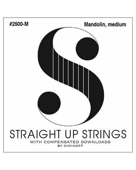 Straight Up S2500-M Phosphor Bronze Medium Gauge Mandolin Strings by Siminoff