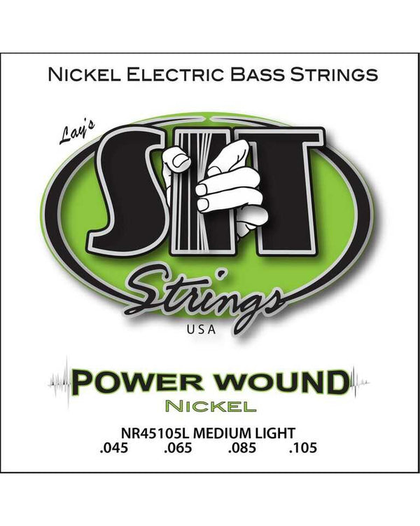 SIT NR45105L Power Wound Electric Bass Strings, Medium-Light Gauge, Long Scale