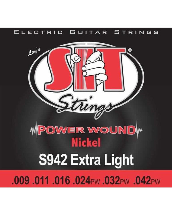 SIT S942 Power Wound Electric Guitar Set, Extra-Light Gauge