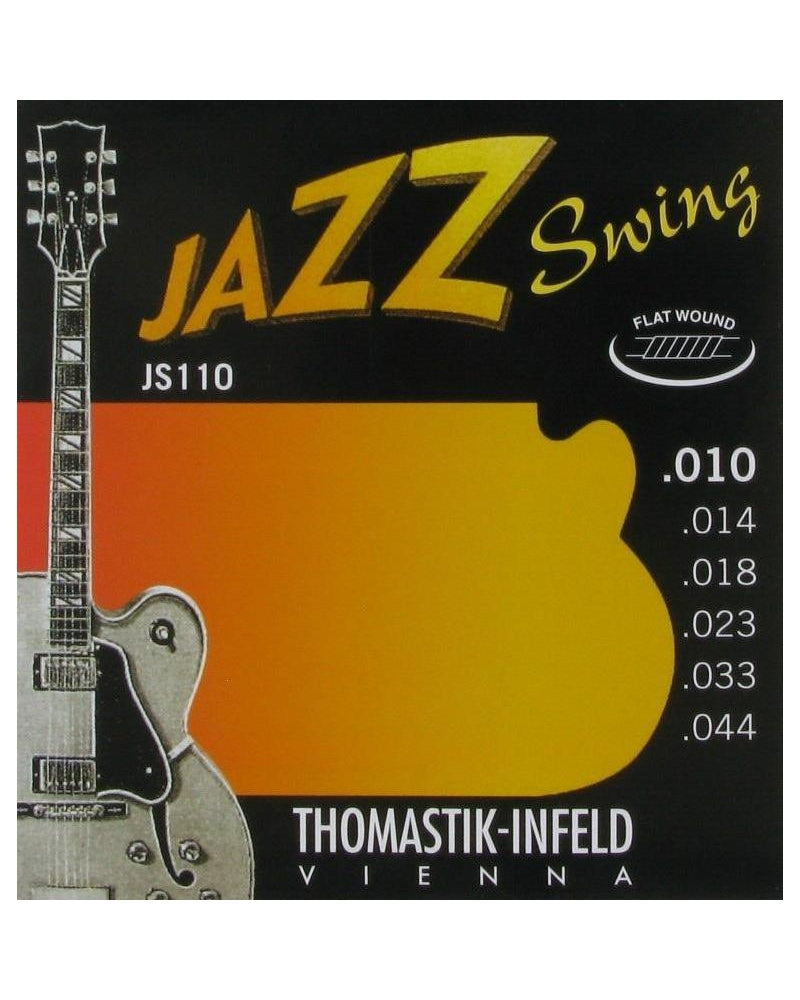 Thomastik Infeld JS110 Jazz Swing Flatwound Extra Light 6-String Electric Guitar Set
