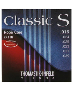 Thomastik Infeld KR116 Flatwound Classic S Ropecore 6-String Acoustic Guitar Set