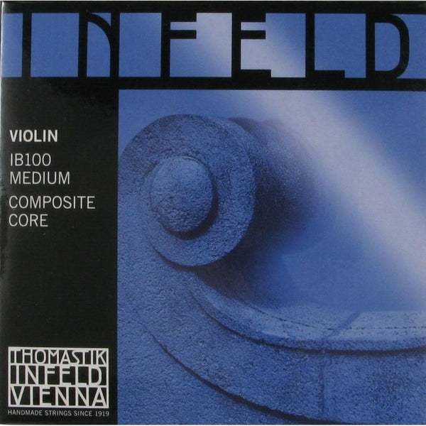 Thomastik Infeld IB100 Blue Composite Core Medium Violin String Set