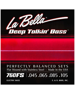 La Bella 760FS-TB Flat Wound Through Body Bass Strings