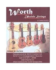 Worth CD Soprano / Concert Uke, Strong Tension, Clear Set