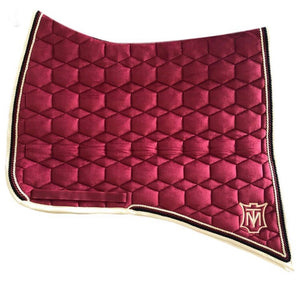 Mattes Velvet Baroque saddle pad