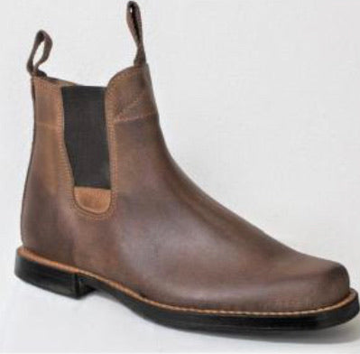 F0112 Ribatejo jodhpur boots with stitched leather sole