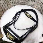 Special Order Baroque Double Bridle with Gold Embroidery
