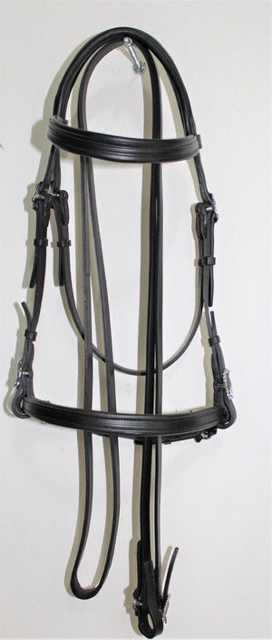 VMCS Anatomical Headpiece Snaffle Bridle