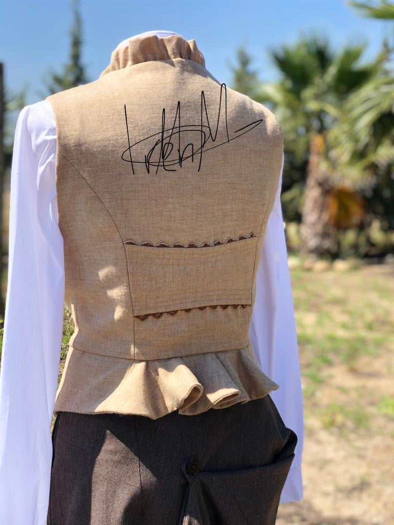 Tailor made waistcoat designed and made in Spain
