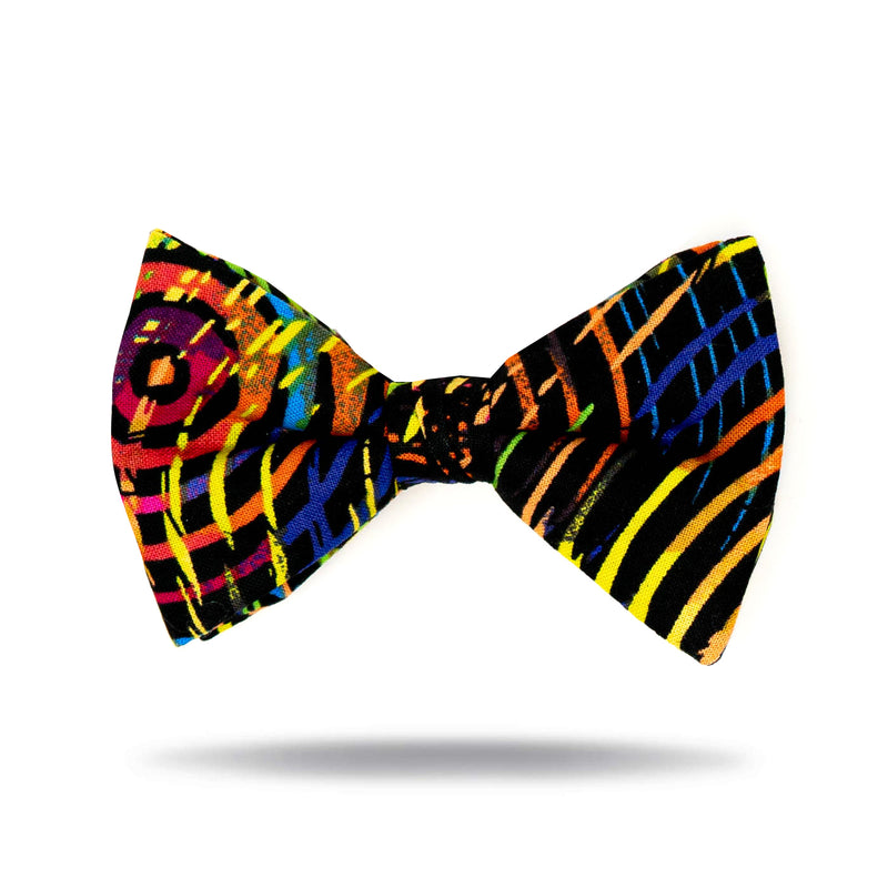 """Black Multi Circles"" Tie"