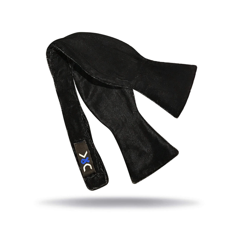 """Midnight"" Black Velvet Bow Tie"