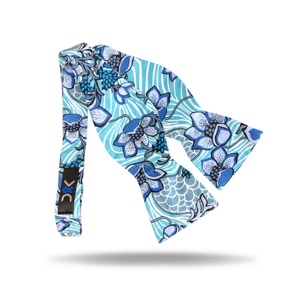 Blue Wave Bow Tie