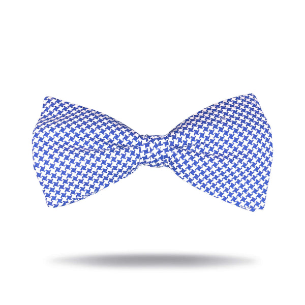 Navy & White Houndstooth Bow Tie