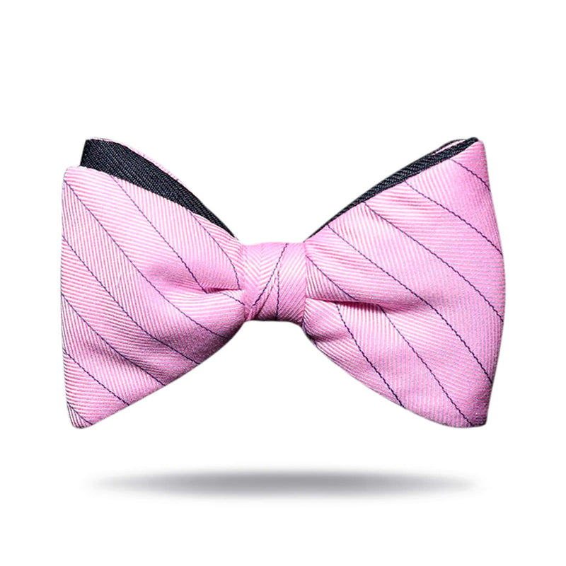 Pink & Navy Bow Tie