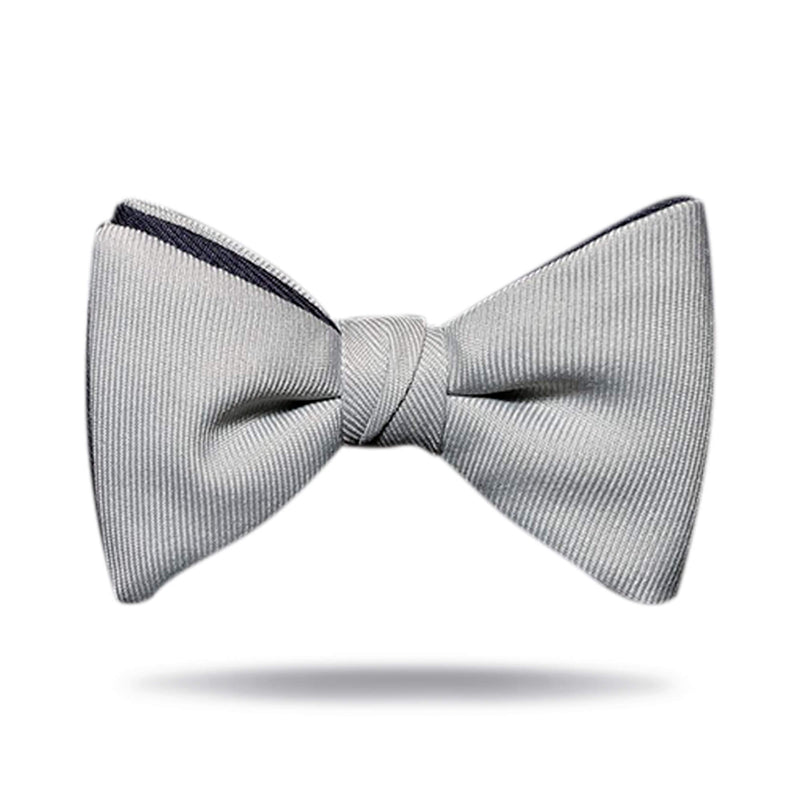 """Cowboys"" Silver & Navy Bow Tie"