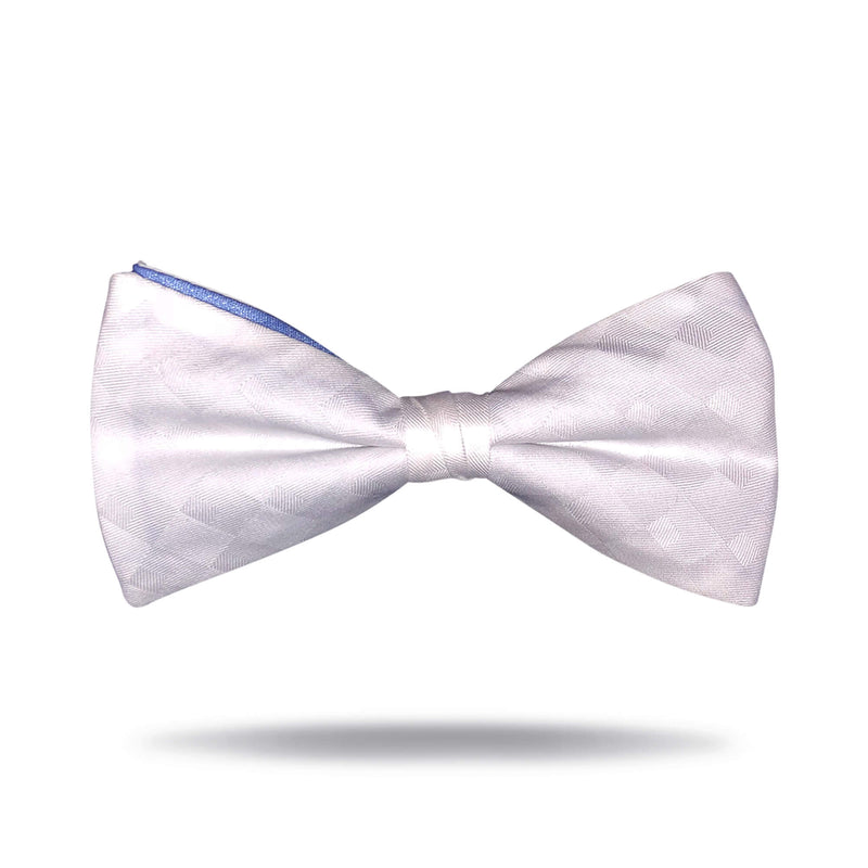 White & Light Blue Bow Tie