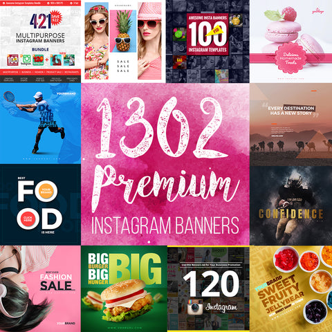 1302 Instagram Banners Collection